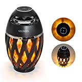 Led Flame Speakers, LED Flickering Flame Atmosphere Light with Bluetooth 4.2 Wireless...