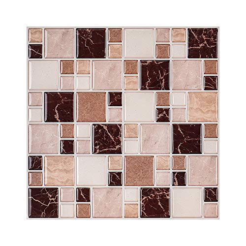 SIRUITON 10-Sheet Peel and Stick Tile Backsplash 10