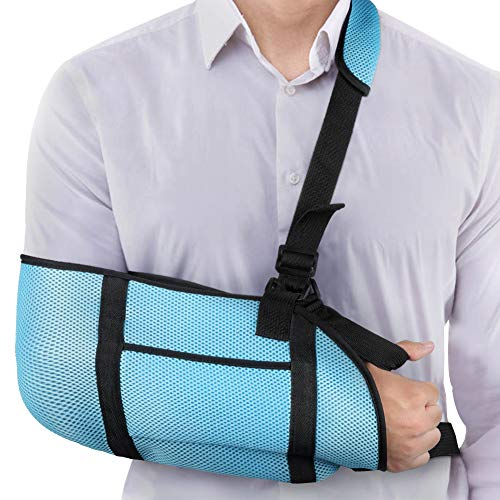 Adult Arm Sling, Medical Grade Quality Adult Arm Sling, Breathable and Lightweight Arm Support Strap with Storage Space for Stabilise Arm, Injury Recovery and Shoulder Dislocations, One Size