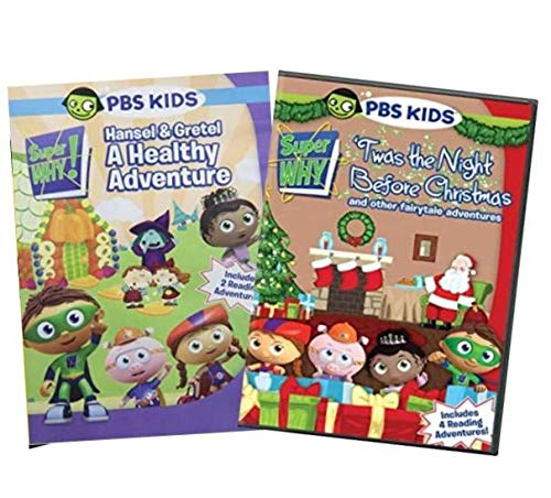 Ultimate PBS Super Why 3-DVD Learning Collection: Hansel & Gretel: A Healthy Adventure / 'Twas the Night Before Christmas [SuperWhy Educational Set]
