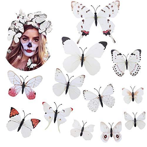 WELROG Schmetterling Haarklammer Bögen Streifen für Frauen Mädchen Braut Haarschmuck Set 12Pcs...