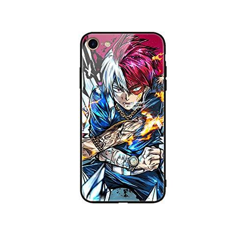 FDSVCSXV Funda para iPhone Anime, Funda de teléfono Trasero de Vidrio Templado Premium Marco de Goma Suave con Agarre (iPhone All Series),A,iPhone 6 Plus