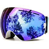 Juli Ski Goggles,Winter Snow Sports Snowboard Goggles with Anti-Fog UV Protection Interchangeable...