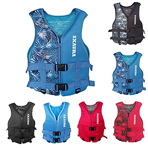 Life Jackets for Adults,Water Sport Boating Jacket Outdoor Sports Vest Adults Jacket Lightweight Buoyancy Waistcoat Water Sports Accessories for Sailing Surfing Kayaking