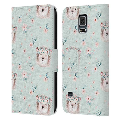 Head Case Designs Licenza Ufficiale Kristina Kvilis Verde Limo Animali da Foresta Cover in Pelle a Portafoglio Compatibile con Samsung Galaxy S5 / S5 Neo