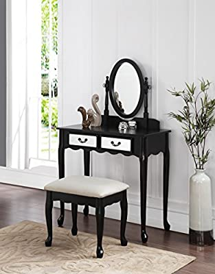 small bedroom vanity make-up table with mirror