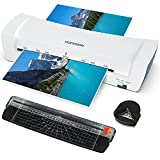Laminator Machine, Laminating Machine for Home Office School Use, 9 Inches Small Hot Cold Personal Laminator Machine, 4 in 1 Thermal Laminator with 30 A4/A5/A6 Pouches, Paper Trimmer, Corner Rounder