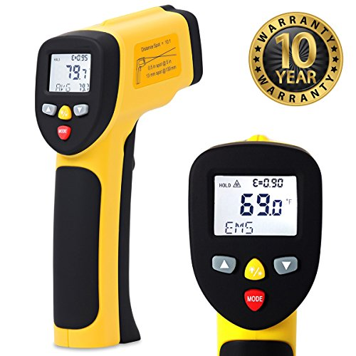 ennoLogic Temperature Gun (NOT for Body Temp) - Accurate High Temperature Dual Laser Infrared Thermometer -58°F to 1922°F - Digital Surface IR Thermometer eT1050D