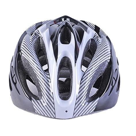 LXLAMP Cascos de Bicicleta de montaña, Casco Ciclismo Mujer Casco Specialized Casco de Ciclismo Deportivo Transpirable de Fibra de Carbono para Bicicleta de montaña