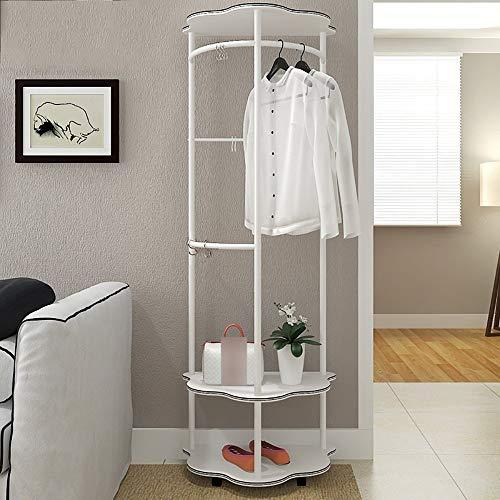 POETRY Multifunctionele half-ronde creatieve kledingrek moderne vloer staande huishoudelijke slaapkamer hangers (3 kleuren beschikbaar) vrijstaande kapstok (kleur: wit grootte: A)