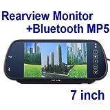 speedy ninja Rear View Mirror Monitor and Multimedia MP4 Player - 7 Inch