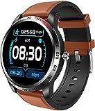 CNZZY W3 Reloj inteligente para mujer con oxígeno en sangre ECG PPG Presión arterial Monitoreo de ritmo cardíaco para hombre Fitness Tracker Podómetro impermeable Reloj deportivo (F)