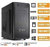 - CEO Alpha V3 - Ordenador de Sombremesa AMD 200GE 3.20GHz 4MB Cache | 16GB RAM DDR4 | 250GB SSD | Radeon Vega 3 | HDMI/VGA Full HD | USB 3.0 | WIN10 Pro
