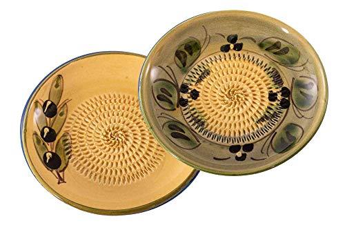 Muxel Keramikreibe 2er Set beige Reibe für Ingwer, Knoblauch, Nüsse, Schokolade und Vieles mehr