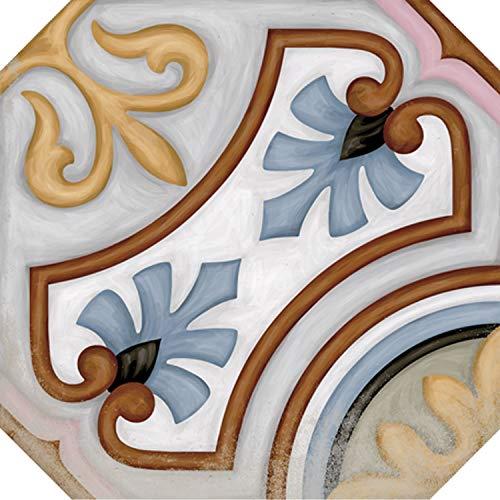 Diglas oriental azulejo 20x20 cm octogonal en aspecto vintage - azulejos de piso y pared como decoración de pared en baño y cocina piso y baño | FL2170