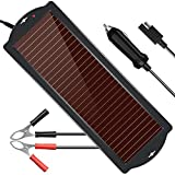 POWISER Solar Battery Charger 12V Solar Powered Battery maintainer & Charger,Suitable for...