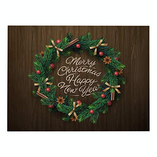 Verde serie de impresión Navidad algodón y lino manteles individuales hogar mercancías cocina manteles individuales