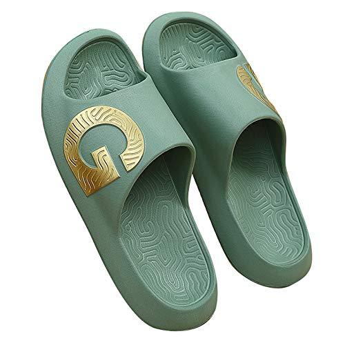 Zapatillas de Estar por Casa, Zapatillas De Ducha, Actualización De Moda, Zapatos Antideslizantes para El Hogar para Mujeres Y Hombres, Sandalias Cómodas para Jardín(Size:23.5~24cm/37~38,Color:Verde)