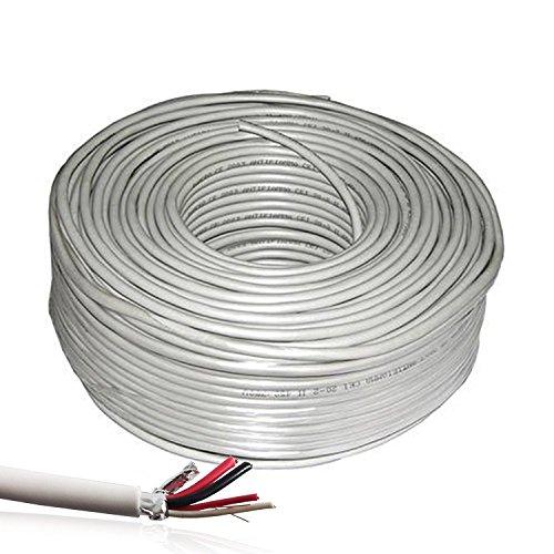 Bobina de 100 metros de cable para alarma antirrobo apantallada 2 x 0,22 + 2 x 0,50 bobina