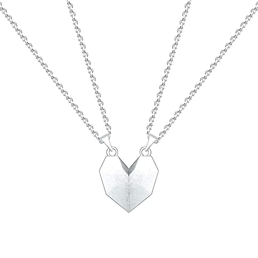 Heart-Shaped Love Crystal Item Unique Chain Jewelry EDTO Womens Fashion Heart Pendant Necklace Silver