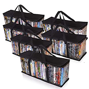 Besti Premium Quality Home DVD Storage Bags  6-Pack  Holds 240 Total Movies or Video Games Blu-ray | Convenient Travel Case for Media | Stackable Easy to Carry