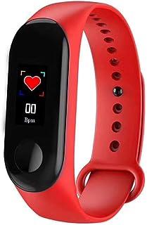 FUZHEN Fitness Tracker, M3 Smart Band Monitor de presión arterial, monitor de ritmo cardíaco, podómetro, monitor de activi...