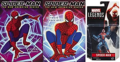 Marvel's Amazing Spider-Man Bundle: The Animated Series: Spider-Man Extreme Threat & The Ultimate Face-Off DVD Bundle W/ Marvel Legends Series Spider-Man Action Figure