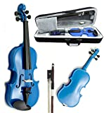 SKY Brand New Children's Violin 1/16 Size Blue Color