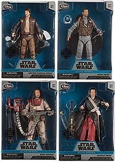 Elite Series Die Cast Action Figure - 6 1/2'' - Rogue One: A Star Wars Story 4-Pack Captain Cassian Andor / Bodhi Rook / Baze Malbus Elite & Chirrut Îmwe collectible bundle