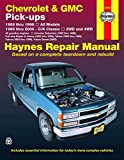 Chevrolet & GMC Full-size Pick-ups (88-98) & C/K Classics (99-00) Haynes Repair Manual (Does not include information specific to diesel engines. ... specific exclusion noted.) (Haynes Manuals)