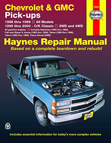 Chevrolet & GMC full-size petrol pick-ups (1988-1998) Haynes Repair Manual (USA)