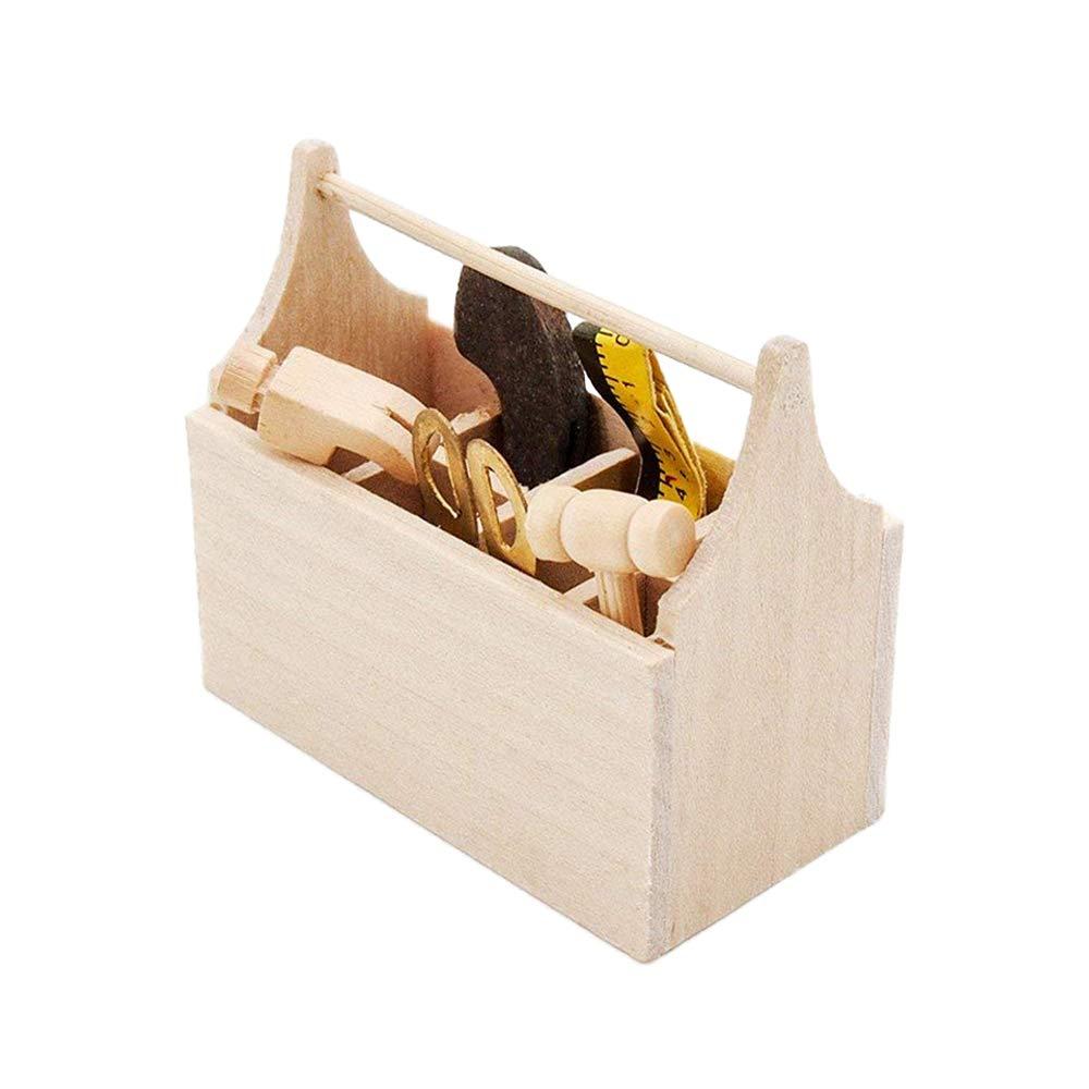 Amazon.es: Odoria 1/12 Miniatura Caja Madera para Herramientas Decorativo para Casa de Muñecas: Juguetes y juegos