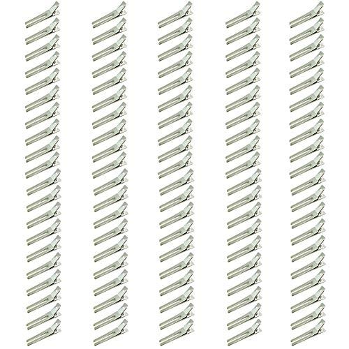 JBINNG Lot de 100 pinces à cheveux à double fourchette 4,8 cm Argenté