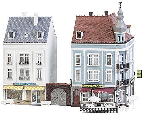 Faller FA 130703 - 2 Stadthäuser Beethovenstraße, Zubehör für die Modelleisenbahn, Modellbau
