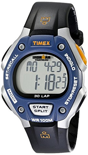 Timex Full-Size Ironman Classic 30 Watch Black/Blue/Silver-Tone