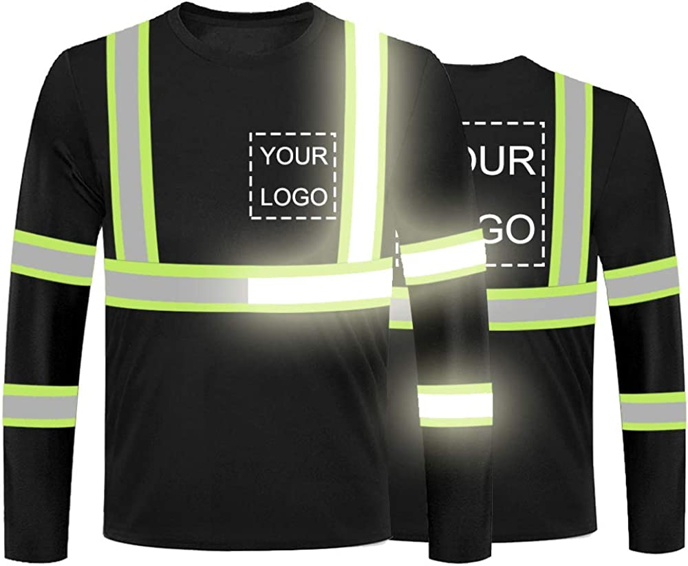 High Visibility Reflective Max 85% OFF Safety Shirts Ref Logo Customize With Super intense SALE