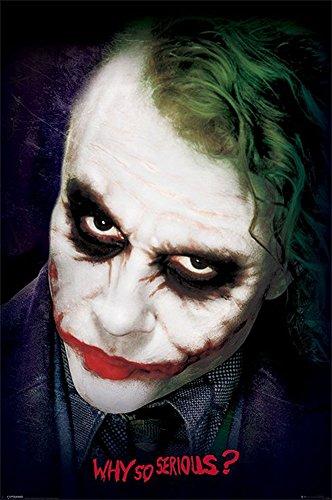 Batman - The Dark Knight - Joker Face - Filmposter Kino Movie Fantasy - Größe 61x91,5 cm + 1 Ü-Poster der Grösse 61x91,5cm