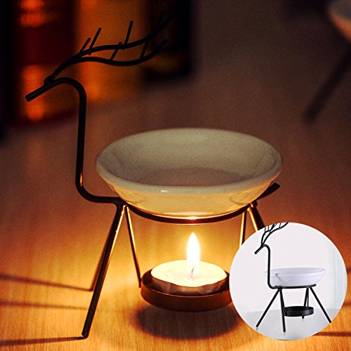 Bluelover Edel stalen hertenbrander kaars aromatherapie etherische olie lamp decoraties Aroma Furna