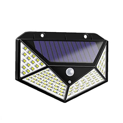 Gracy Las Luces solares Cuatro Caras 100 LED Solar al Aire Libre luz del Sensor de 1000Lumens IP65 a Prueba de Agua Luz a la Pared de Seguridad de Gran Angular con 3 Modos de jardín Patio
