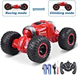 UNIROI Remote Control Car, RC Stunt Car 1:16 2.4G RC Rock Crawler Off Road Vehicles, 4WD High Speed Stunt RC Car Toy Gift for Kids & Adults