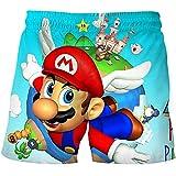 LIANGJI Shorts de Playa Mario 2021 Pantalones Cortos de Dibujos Animados de Verano Pantalones Cortos de Super Mario-Luigi Juegos de Dibujos Animados en 3D Ropa para niños Pantalones para niños Ropa