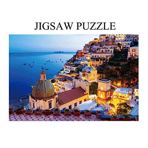 YZG LIFE Rompecabezas Adultos 1000 Piezas,Rompecabezas para Amantes, Rompecabezas para Adultos, Jigsaw Puzzles Classic (815 Rompecabezas Paisaje de la Costa Amalfi)
