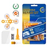 Windshield Repair Kit – Auto Glass Crack Repair tools with Upgraded Repair Rasin for Car Windshield Crack Crater Chip and Scratch Fixing