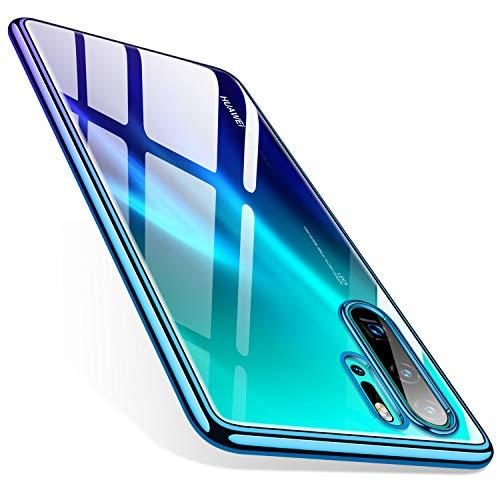 TORRAS für Huawei P30 Pro Hülle, Dünn [Farbverlauf Rahmen & Transparent Rückseite ] Silikon Handyhülle Huawei P30 Pro Case Weiches TPU Stoßfest Schutzhülle Huawei P30 Pro - Crystal Clear