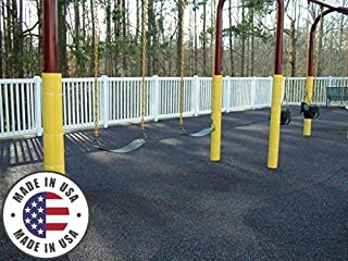 Cardinal Gates Flat Pole Padding Yellow | Uses: Playground Padding, Pole Wrap for Basement, Garage Pole Protector, Basement Column Wrap Kit, Padding for Basketball Pole, and Goal Post Pads