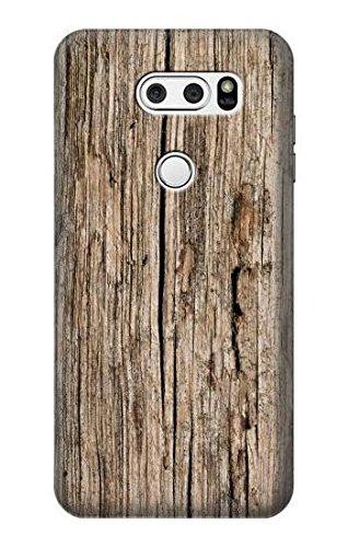 Innovedesire Wood Graphic Printed Hülle Schutzhülle Taschen für LG V30, LG V30 Plus, LG V30S ThinQ, LG V35, LG V35 ThinQ