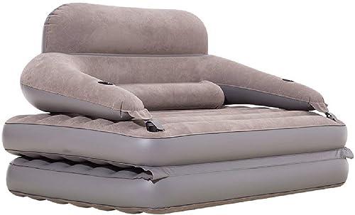 Canapé Gonflable de Taille Grand de Matelas pneumatique de Sofa de Reine avec Les accoudoirs et Le Dossier Confortables pour Camper ou lit d'invité intérieur extérieur, 300kg (Couleur  Pompe