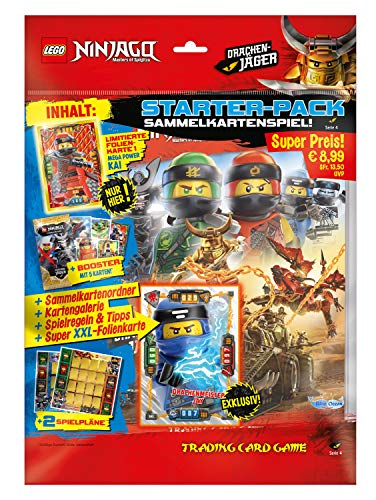 Top Media 180316 - Lego Ninjago Serie IV, Starterpack, Sammelordner, 1 Booster, limitierte Goldkarte und XXL Karte