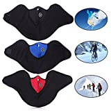 ewinever 3PCS Neoprene Thermal Fleece Cold Weather Half Face Mask for Motorcycle,Bicycle,Skiing,Running,Hiking,Mountain Climbing,Skateboard & More