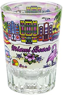 Miami Beach Florida Double Shot Glass